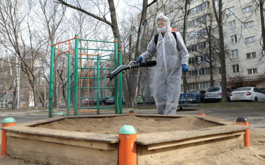 Maskva imasi naujų priemonių dėl koronaviruso: sergančiųjų daugėja, ribos žmonių judėjimą