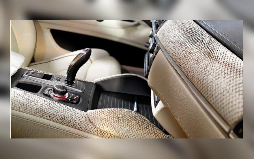 BMW su lašišos odos salono apdaila