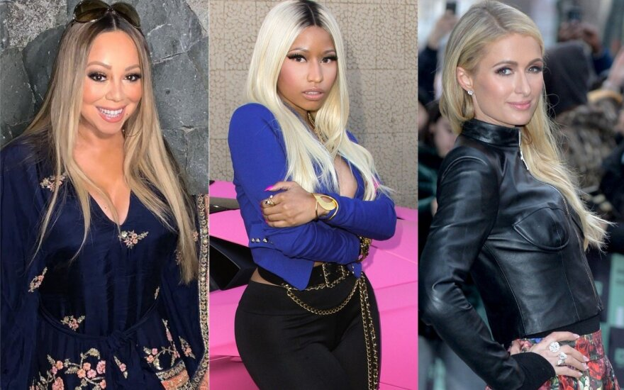 Mariah Carey. Nicki Minaj, Paris Hilton