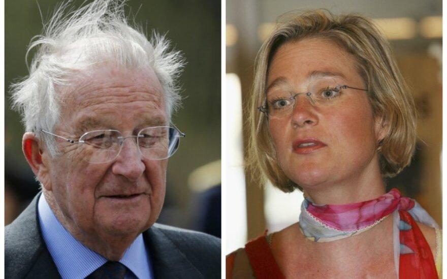 Belgijos karalius Albertas II ir Delphine Bo'l