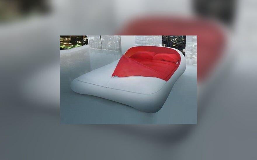 Futuristinė lova su užtrauktuku