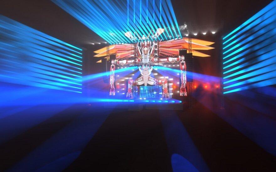SEL koncerto Vilniuje scenos vizualizacijos