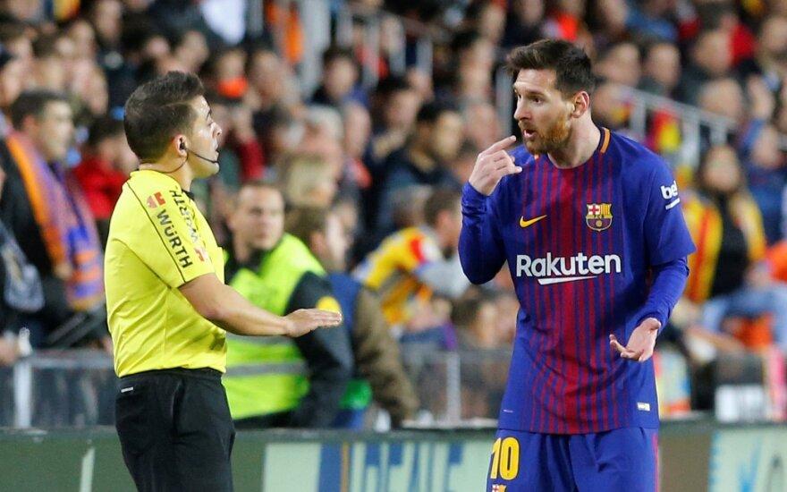 Teisėjas ir Lionelis Messi