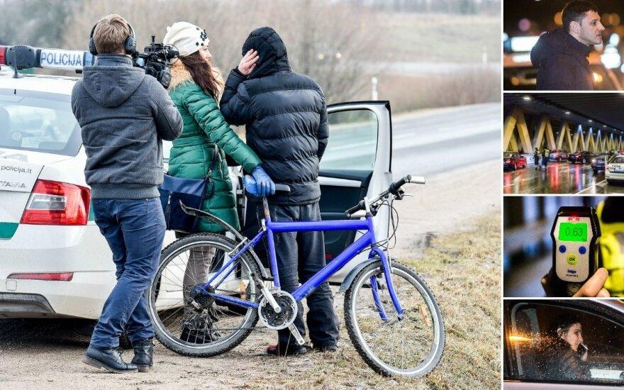 Reidai Vilniuje ir jo apylinkėse: vairuotojai įkaušę, o dviratininkas visai girtas