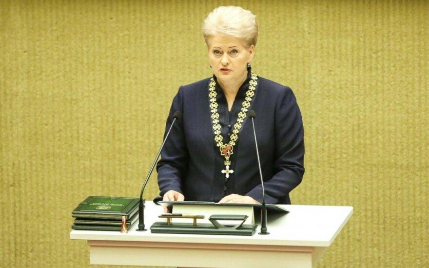 President Dalia Grybauskaitė at the inauguration ceremony