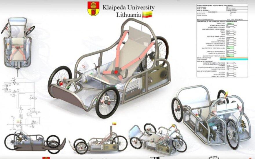 Klaipėdos universiteto komandos sukurtas pneumobilis