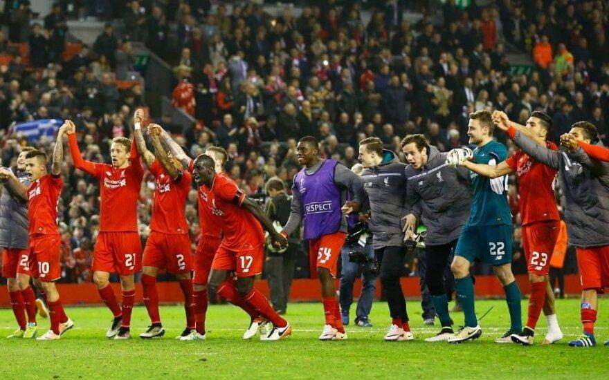 """""""Liverpool"""" sukūrė stebuklą prieš """"Borussią"""" ir žais pusfinalyje"""