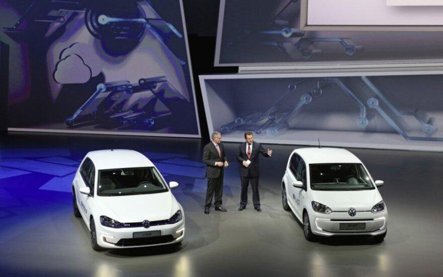 Elektriniai Volkswagen e-Golf ir e-up