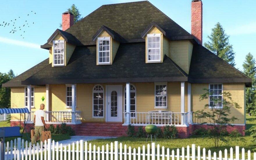 """kaip 6 """"The Sims"""" namai atrodytų realiame gyvenime"""