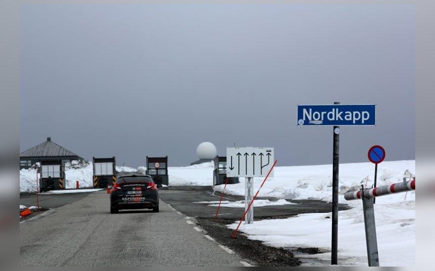 Ekonominio vairavimo ekspedicija įpusėjo Nordkapą