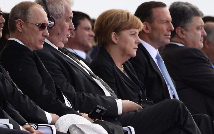 Vladimir Putin, Miloš Zeman, Angela Merkel