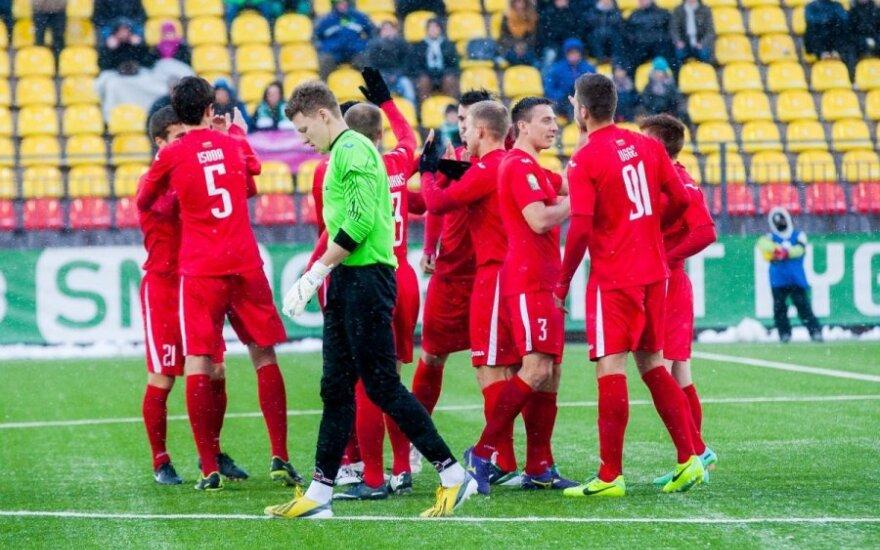 """Lietuvos futbolo A lygoje """"Sūduva"""" šventė pergalę Šiauliuose"""
