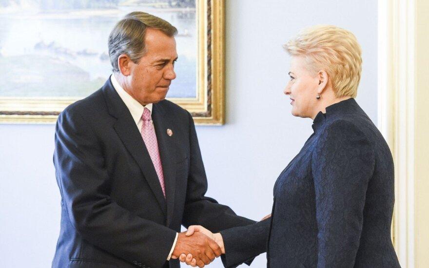 John Boehner and Dalia Grybauskaitė