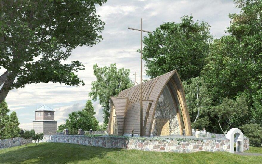 """Dubingių bažnyčia. """"Vilniaus architektūros studija"""" nuotr,"""