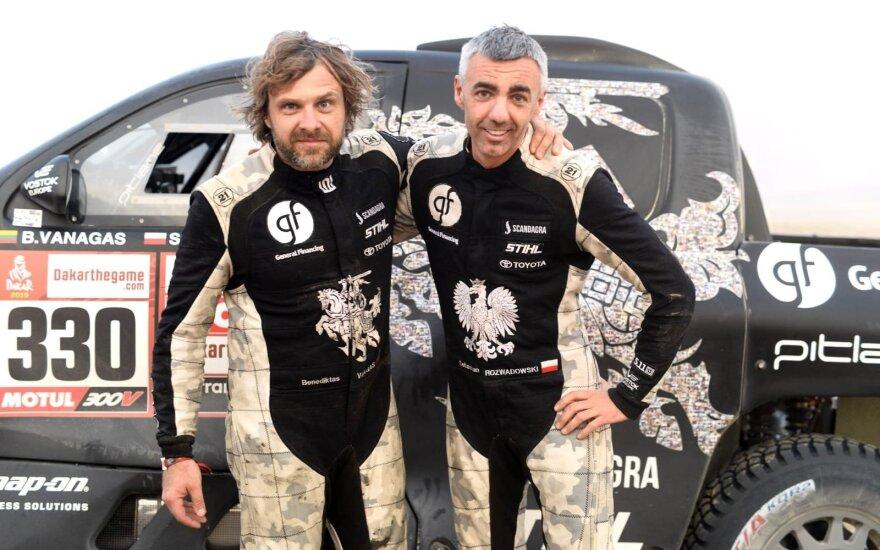 6-asis Dakaro greičio ruožas Benediktui Vanagui ir Sebastianui Rozwadowskiui