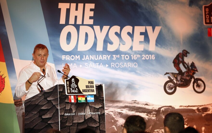Dakaras 2016. Lenktynių organizatorius Etienne Lavigne