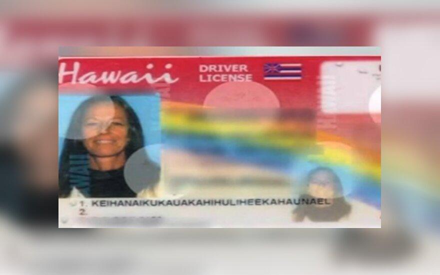 Havajų vairuotojo pažymėjimas