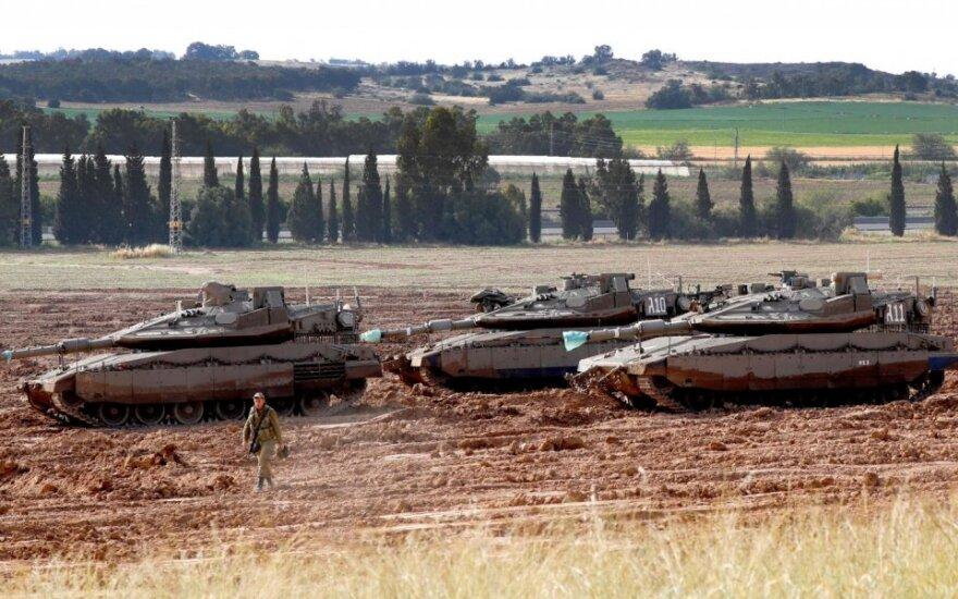 Izraelio tankai netoli Gazos Ruožo