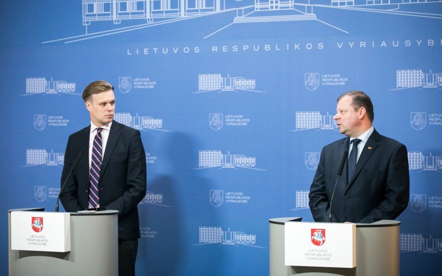 Gabrielius Landsbergis and Saulius Skvernelis