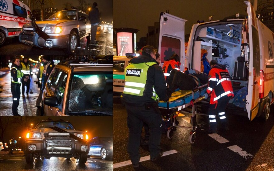 Vyras naktį patingėjo eiti iki pėsčiųjų perėjos ir atsidūrė ligoninėje