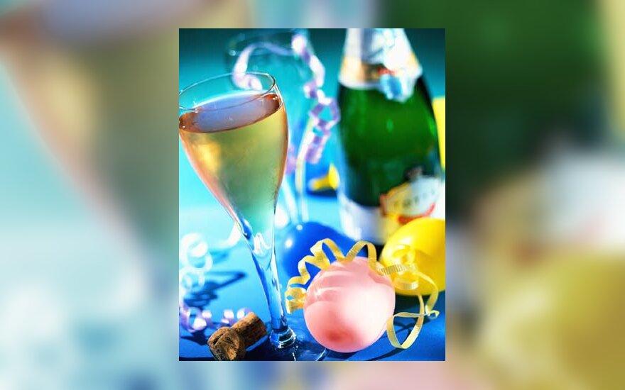 šampanas, šventė, Naujieji metai, draugai, linksmybės