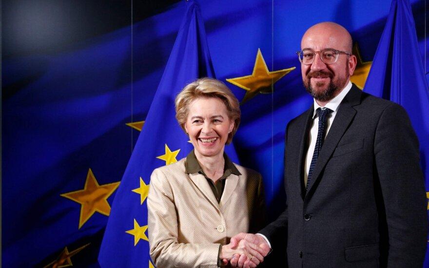 Europos Komisijos vadovė Ursula von der Leyen ir Europos Vadovų Tarybos pirmininkas Charles'is Michelis