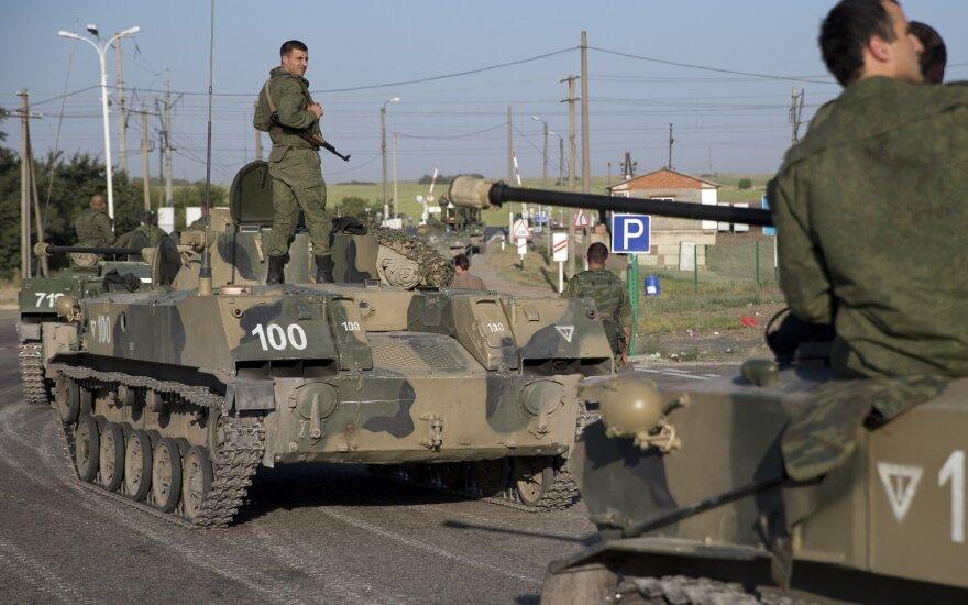 Įtampa auga: prie Ukrainos sienos – gausios Rusijos karių pajėgos