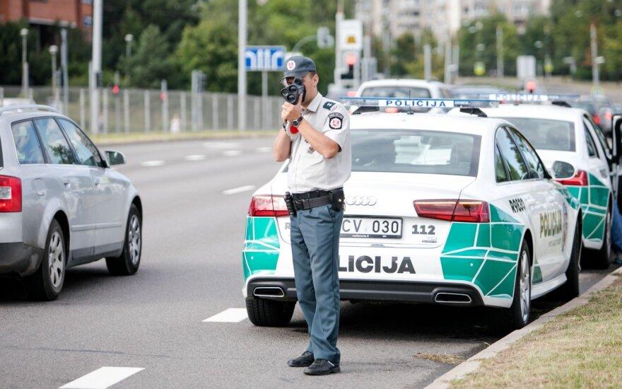 Vilniuje kelių policija surengė netikėtą reidą