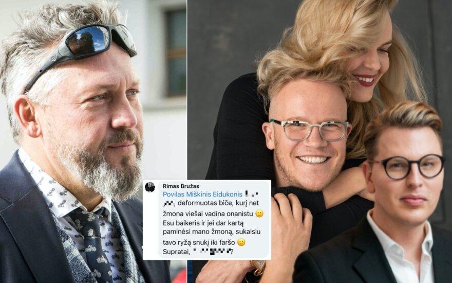 R. Bružas, jo parašytas komentaras, R. Kulvinskytė, P. Miškinis, S. Vaitulionis / Foto: Delfi, T. Juškaitis