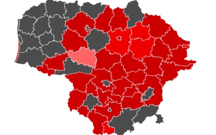 Rugsėjo 23 dieną pateikti sergamumo duomenys Lietuvoje.