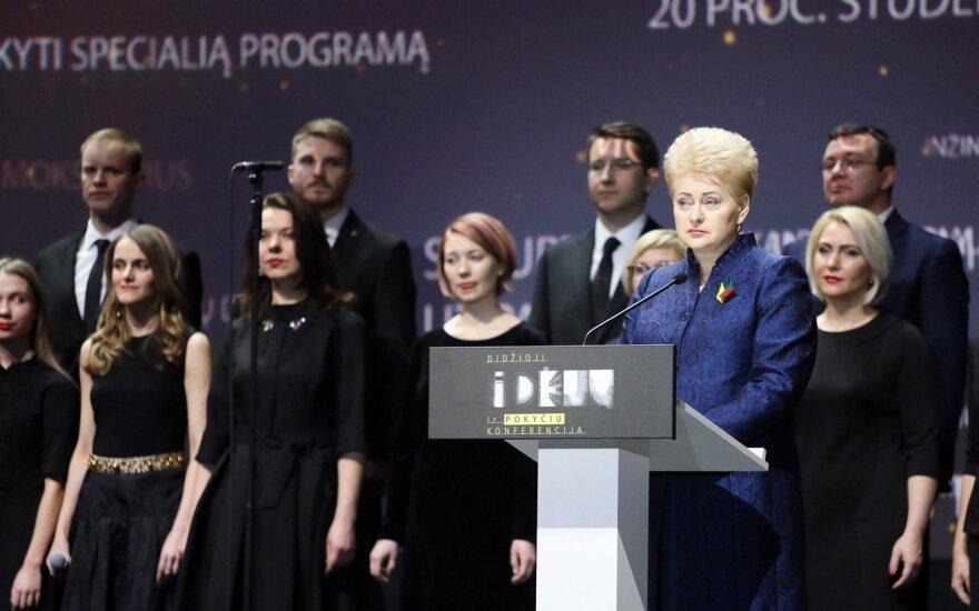 Grybauskaitė: investuoti į mokytojus – mūsų pareiga