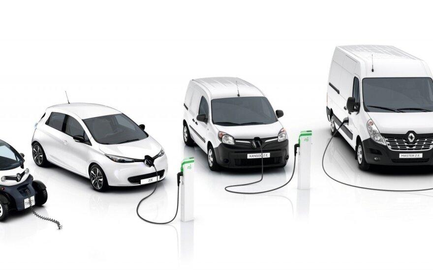 """""""Renault"""" lengvųjų komercinių elektrinių automobilių gama"""