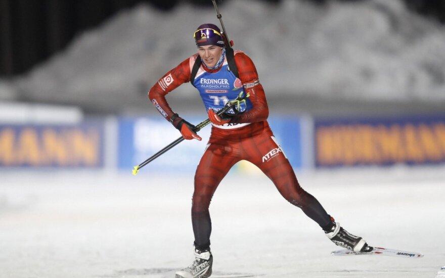 Lietuvos biatlono čempionate – Vytauto Strolios, Karolio Dombrovskio ir latvės triumfas