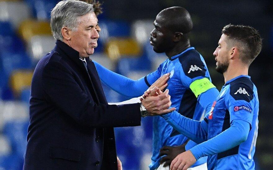 """Carlo Ancelotti su """"Napoli"""" futbolininkais"""