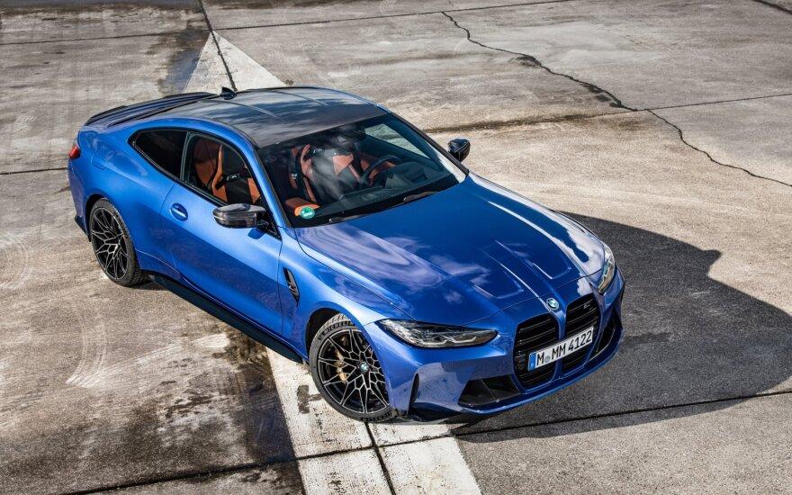 """Stebėkite tiesiogiai: BMW pristato naujus M3 ir """"M4 Coupe"""" – iki 200 km/val. įsibėgi per 12,5 sekundės"""