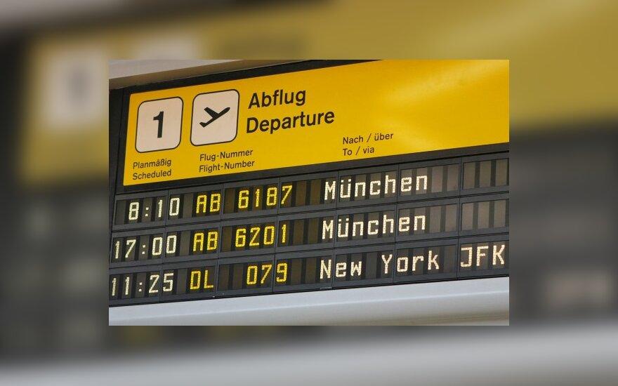 Europos šalis glumina naujieji JAV reikalavimai stiprinti skrydžių saugumą