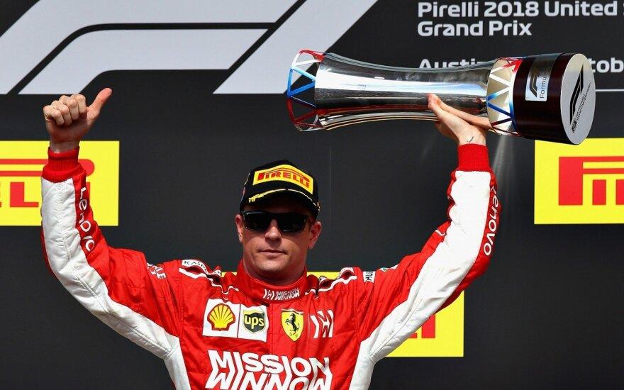 Kimi Raikkonenas laimėjo JAV GP lenktynes