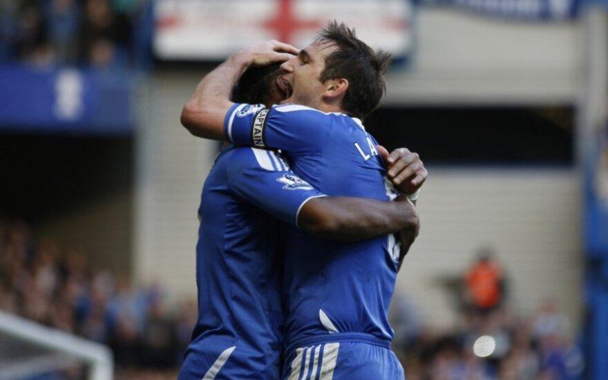 """Dider Drogba ir Frankas Lampardas (""""Chelsea"""")"""
