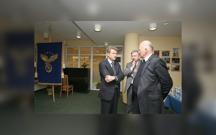 Rolandas Paksas (kairėje) ir Juozas Imbrasas (dešinėje)