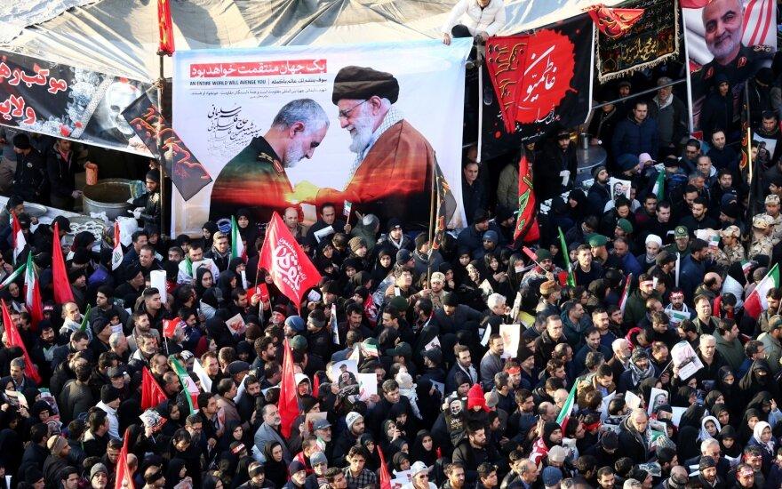 Po Irano generolo nužudymo Saudo Arabija ragina vengti įtampos eskalacijos
