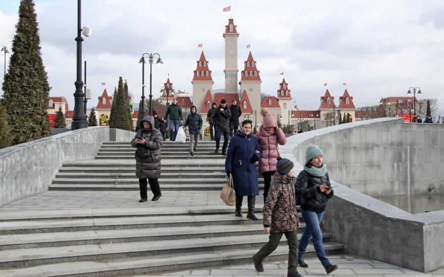 """Rusai įvertino gremėzdišką """"Disneilendo"""" kopiją Maskvoje: tai gėdos sala"""