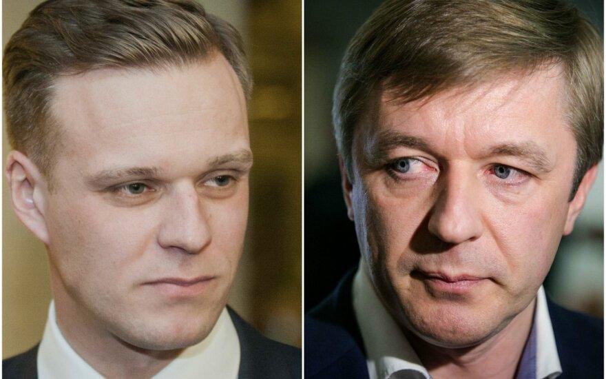 Gabrielius Landsbergis and Ramūnas Karbauskis