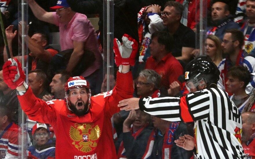 Nikita Kucherovas džiaugiasi Rusijos įvarčiu