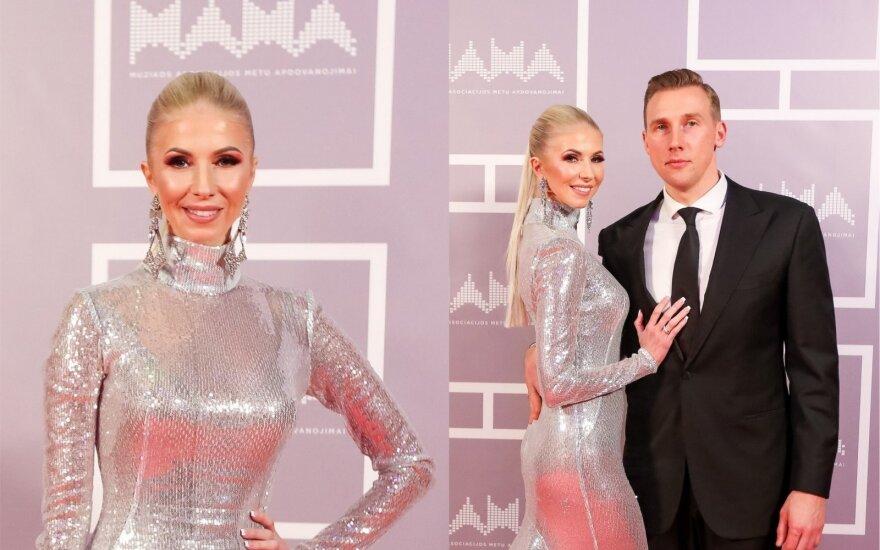 Inga Stumbrienė su vyru Aivaru