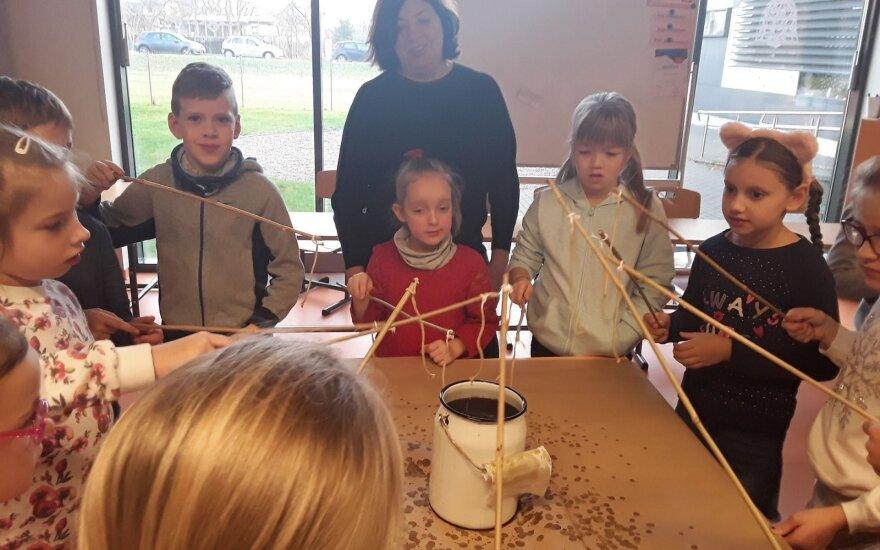 Balsių mokykloje vyko tradicija tapusi Amatų diena