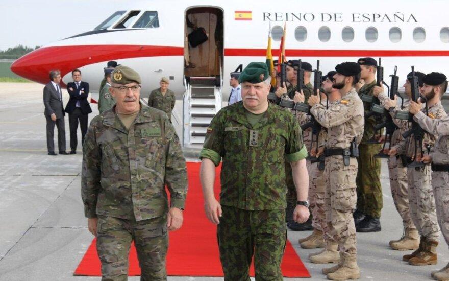 Lietuvoje lankosi Ispanijos kariuomenės vadas // A. Gedrimo nuotr.