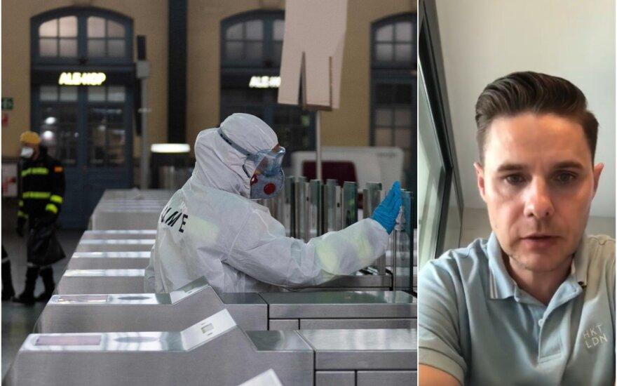 Kova su koronavirusu Ispanijoje, gydytojas Mindaugas Gudelis / Foto: AFP-Scanpix, Facebook