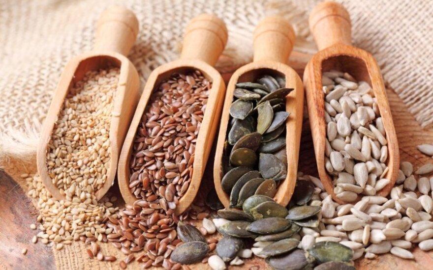 10 sveikatai naudingiausių sėklų