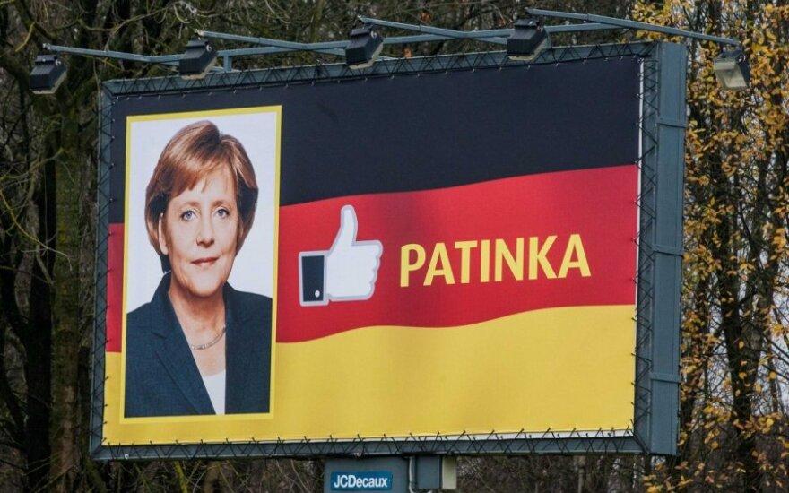 """A. Merkel Italijos planai padarė """"didelį įspūdį"""""""