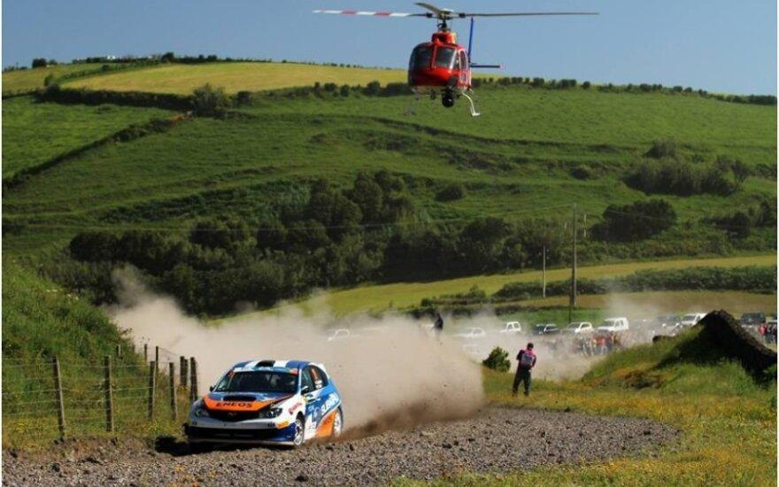 D. Butvilas išlaiko lyderio pozicijas ERC ralyje (Tomasz Kalinski nuotr.)